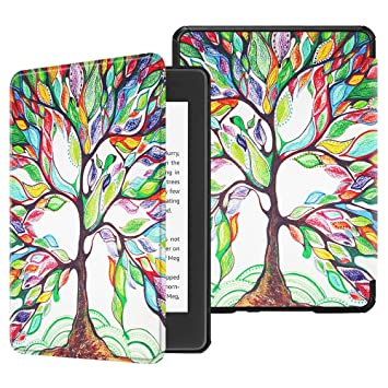 on sale ba68f 62e76 Fintie Slimshell Case for All-New Kindle Paperwhite (10th Generation, 2018  Release) - Premium Lightweight PU Leather Cover with Auto Sleep/Wake for ...