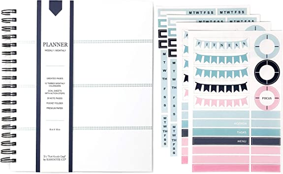 6 Pages,156 Total Stickers Total Weekly Header Planner Stickers 8.5x5.5 Sheet Size Weekly Header Stickers