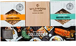 Grilling Gift Set - Grilling Planks Sampler (Cedar, Alder, Cherry, Hickory, Maple) + Hickory & Cherry Smoking Chips…