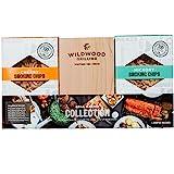 Grilling Gift Set - Grilling Planks Sampler (Cedar, Alder, Cherry, Hickory, Maple) + Hickory & Cherry Smoking Chips