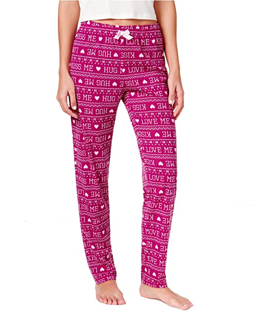 3ac750eef599 Jenni by Jennifer Moore Printed Jogger Pajama Pants (Kiss Me, XX-Large) at  Amazon Women's Clothing store: