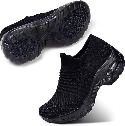 STQ Slip On Breathe Mesh Travel Shoes for Women