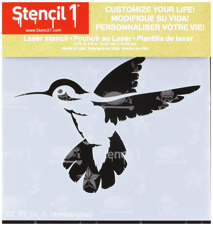 Amazon Stencil1 S10151s 6x6 Stencil Hummingbird