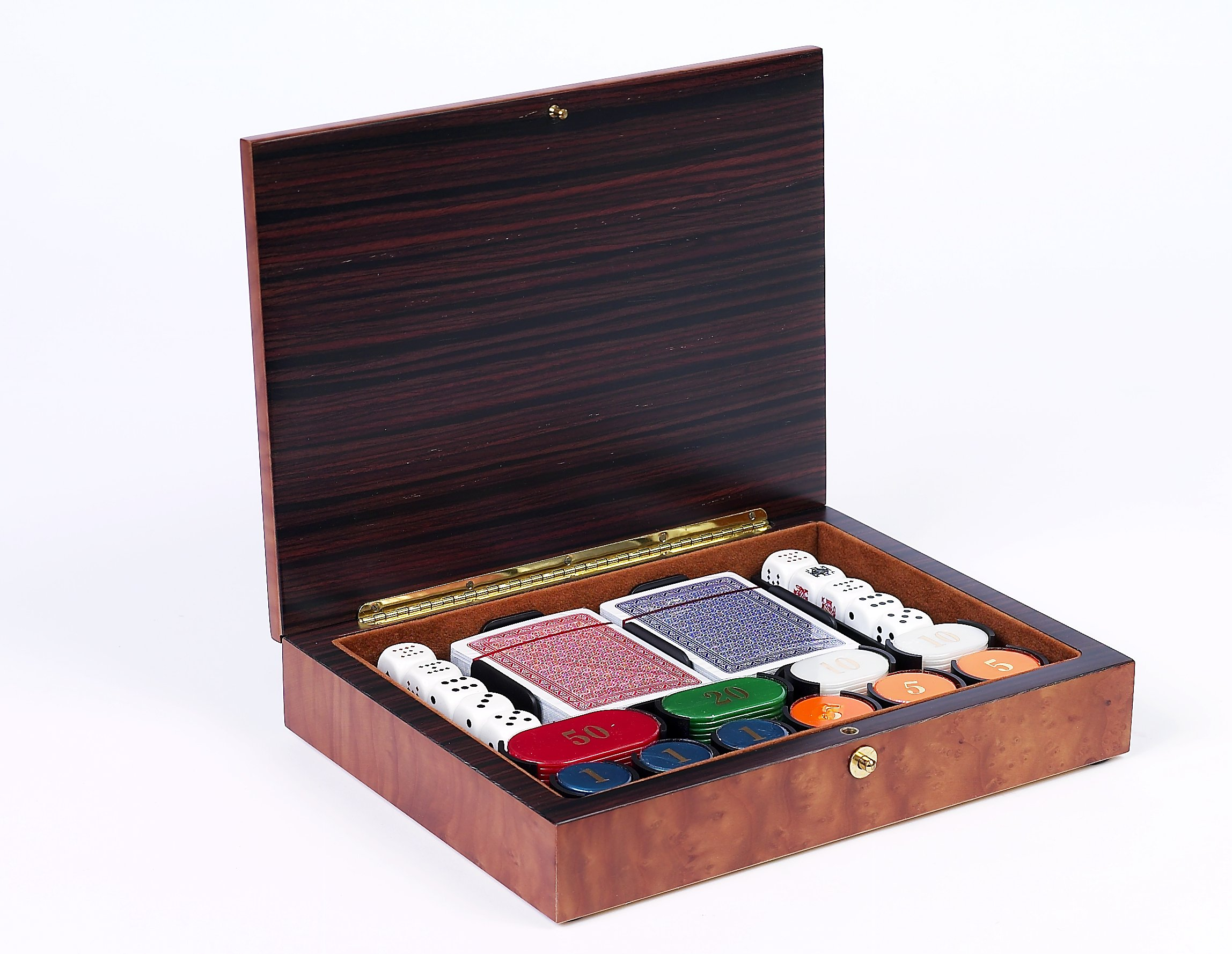 Bello Games Collezioni - Luca Poker Chips and Card Set from Italy