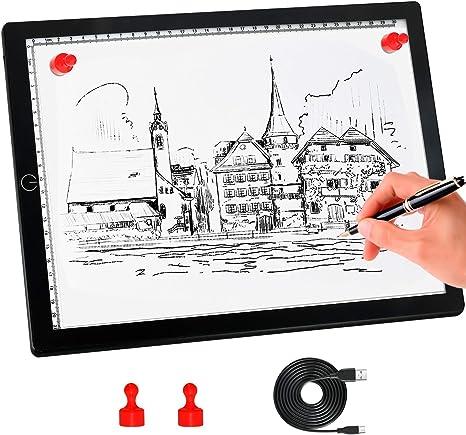 A3 LED Light Box tracer planche art Craft dessin Pad pattern lightbox ultra Slim