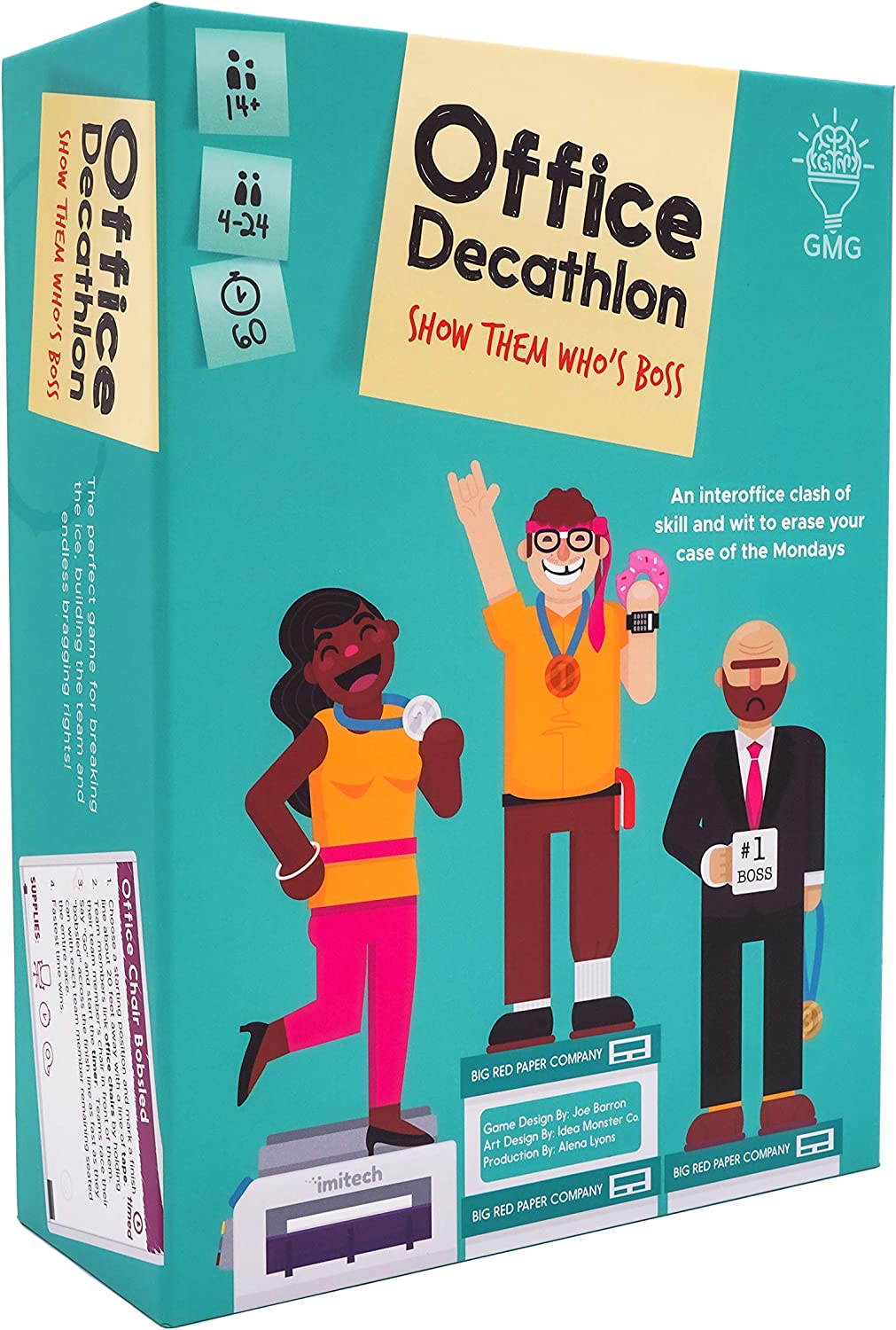 Office Decathlon Game by Gray Matters Games, Office Game with Olympic-Inspired Team Building & Fun Ice Breakers for Office or Work from Home Meetings | Instructions to use on Zoom are Available |