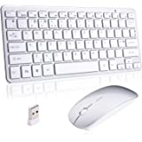 Wireless Mini Keyboard and Mouse Combo,2.4G Ultra-thin Compact Portable for Laptop Mac Tablet Desktop PC Computer Windows OS Android(No numeric keypad&UK layout)