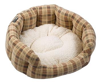 Amazon.com: Petface Compruebe cama ovalada para perro (cesta ...