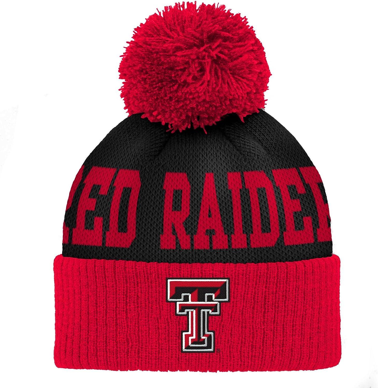 Outerstuff Kids Little NCAA Infant Jacquard Cuffed Pom Hat