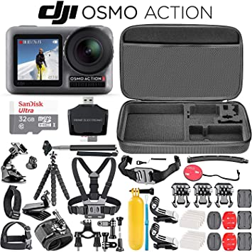 Amazon.com: DJI Osmo Action - Cámara 4K + SanDisk Ultra 32 ...