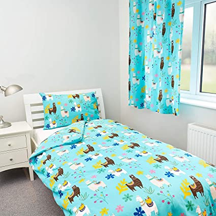Fun design for kids Single Duvet Cover with matching Pillow Case Zappi Co Sloth Bedding Design by The Gift Scholars