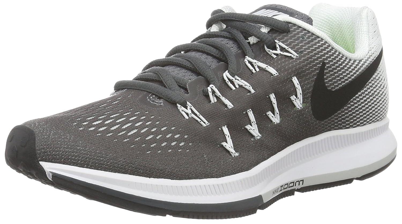 Nike Wmns Air Zoom Pegasus 33, Zapatillas de Gimnasia para Mujer 37.5 EU|Gris (Gris (Dark Grey/Black-white))