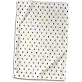 3dRose PS Chic - Chic Gold Dots - 15x22 Hand Towel (twl_212104_1)