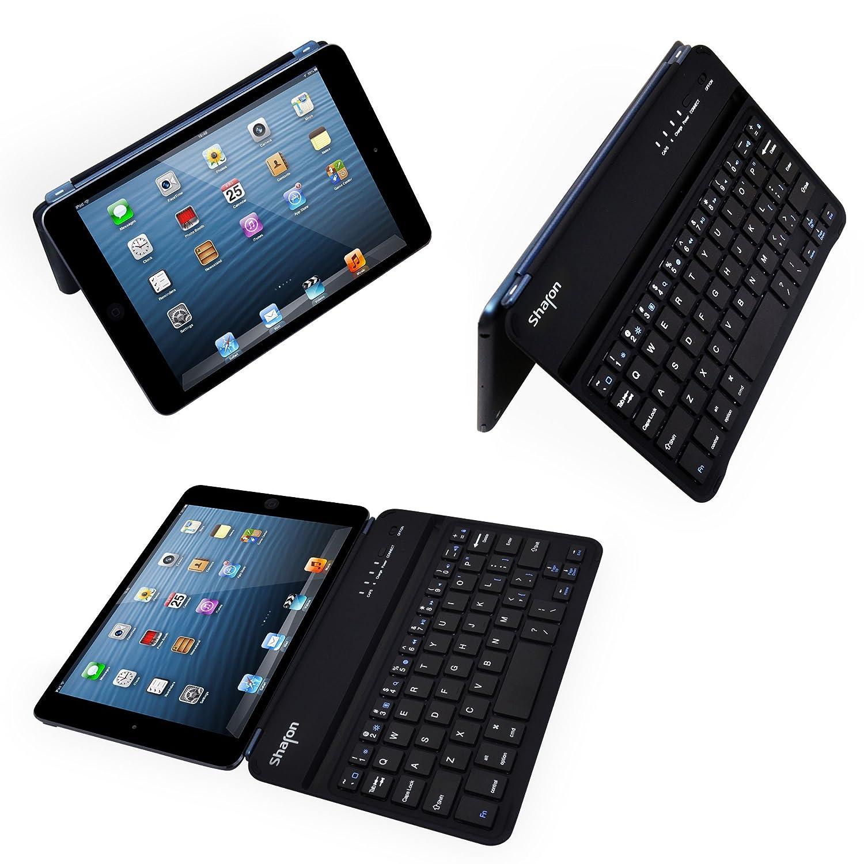 LEICKE Sharon | Funda ultrafina con teclado para iPad mini 3, iPad Mini 2 retina y iPad Mini 7