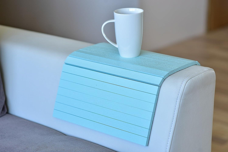 Wood sofa arm tray protectors armrest table sofa table coaster sofa tray, tv tray (Pink)
