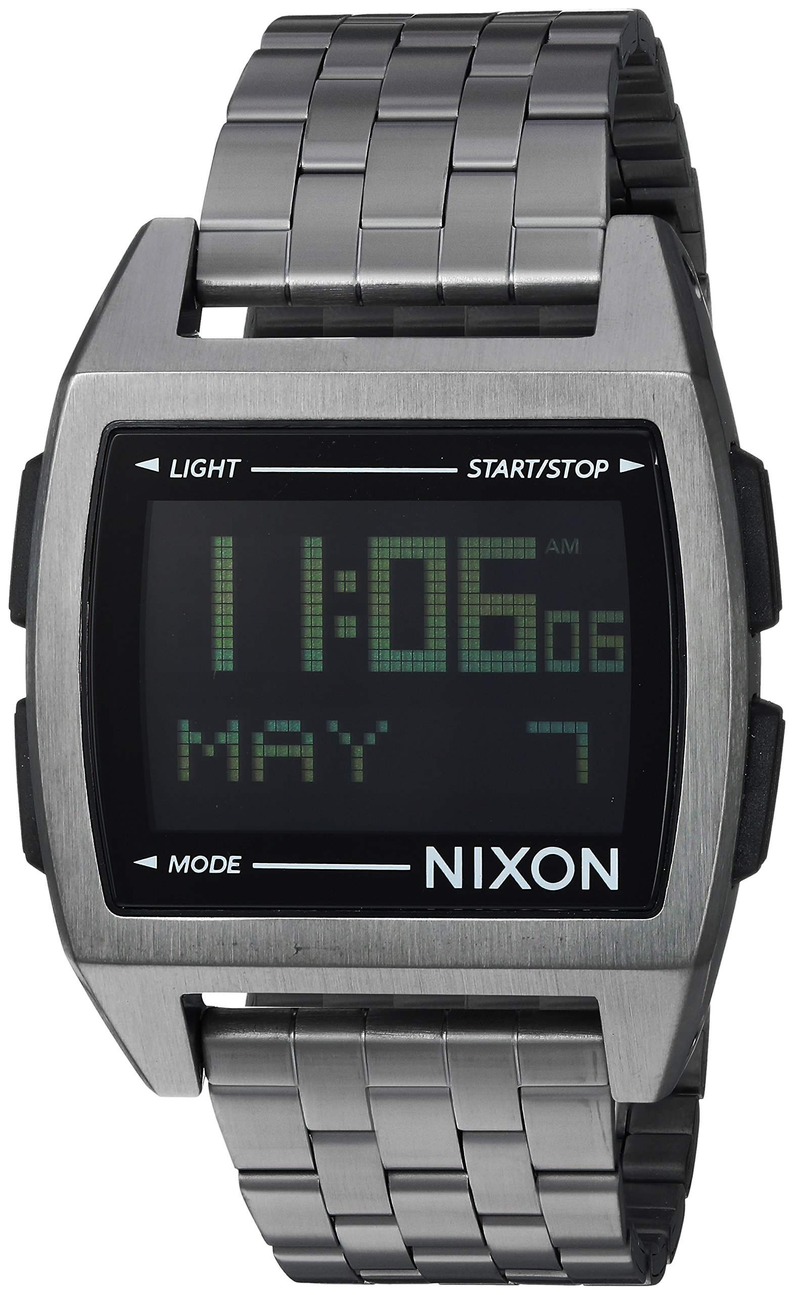 Nixon Men's 'Base' Quartz Stainless Steel Casual Watch, Color:Black (Model: A1107632)