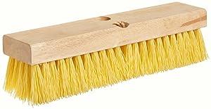 "Weiler 44434 10"" Block Size, 6 X 18 No. Of Rows, Wood Block, Polypropylene Fill, Deck Scrub Brush,Natural"
