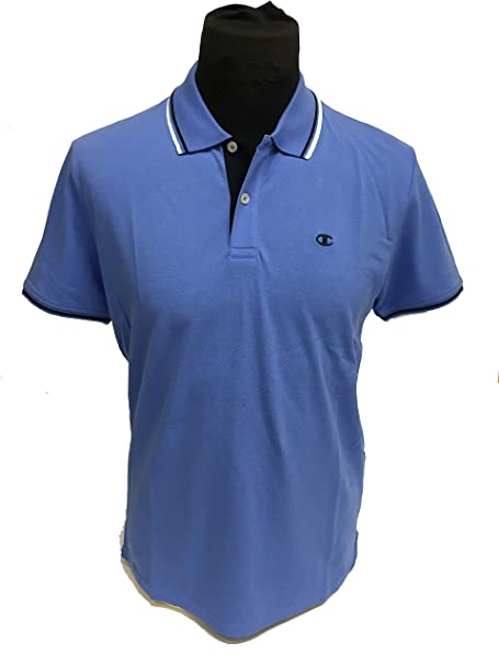 a6db56bcb1fe Champion Polo T-Shirt for Men Blue  Amazon.co.uk  Clothing