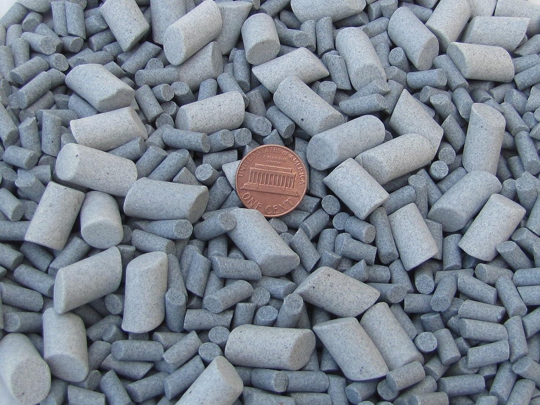 3//16 X 3//8 /& 3//8 X 5//8 Lapidary Rock Tumbler Tumble G-General Ceramic Tumbling Media Mixed 2 Lbs Grey Abrasive