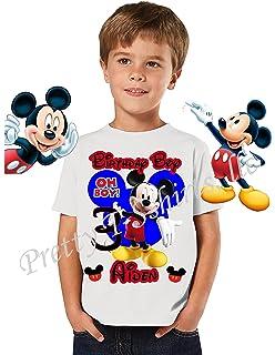 Mickey Birthday Shirt ADD Any Name Age Boy Disney FAMILY