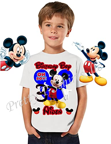Amazon Mickey Birthday Shirt ADD Any Name Age Boy