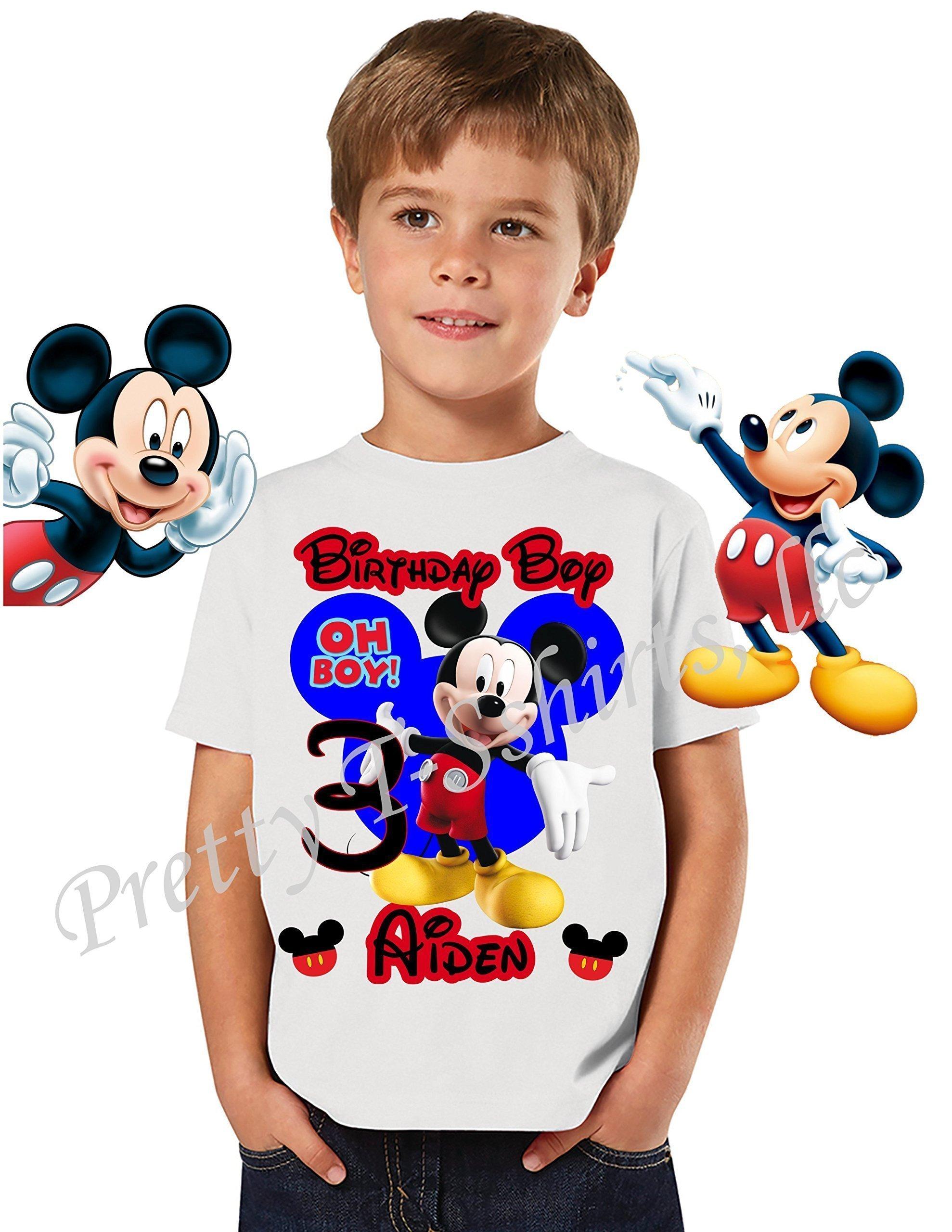 Mickey Birthday Shirt, ADD any name & age, Birthday Boy Shirt, Disney FAMILY Matching Shirts, Mickey Mouse Shirt, OOH BOY, VISIT OUR SHOP!!!