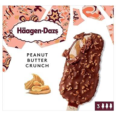 Häagen-Dazs Bombones de Helado Peanut Butter Crunch - Pack de 3 x 70 gr
