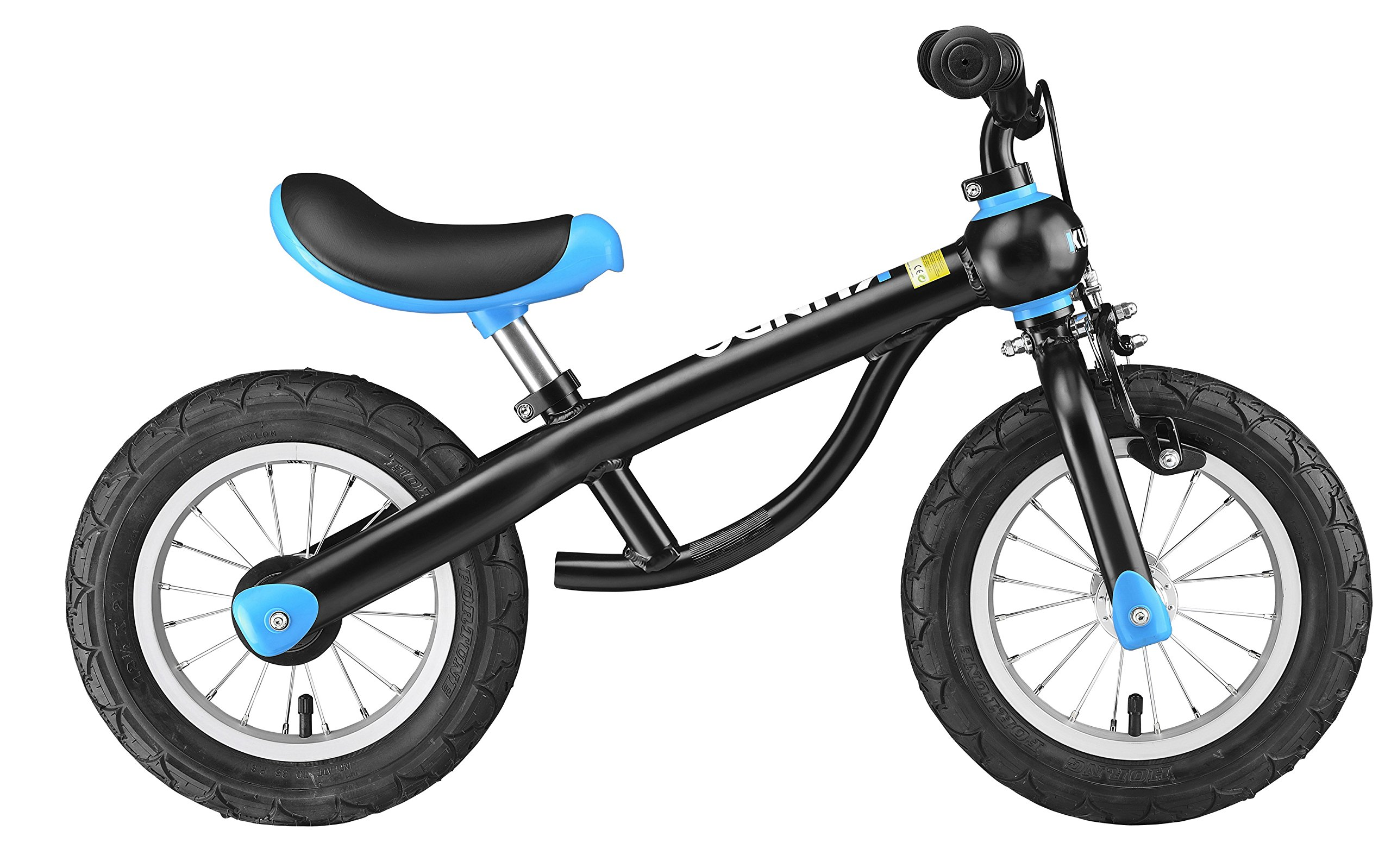 KUNDO Smarttrail Kids Balance Bicycle easy convert to Children Bike 12'' Extra Lightweight Easy to carry 2 in 1 w/Adjustable Cycling Seat&Handlebar in Red Blue Pink colors (Blue)