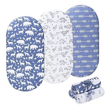 Amazon.com: Juego de sábanas para cuna universal, 3 unidades ...