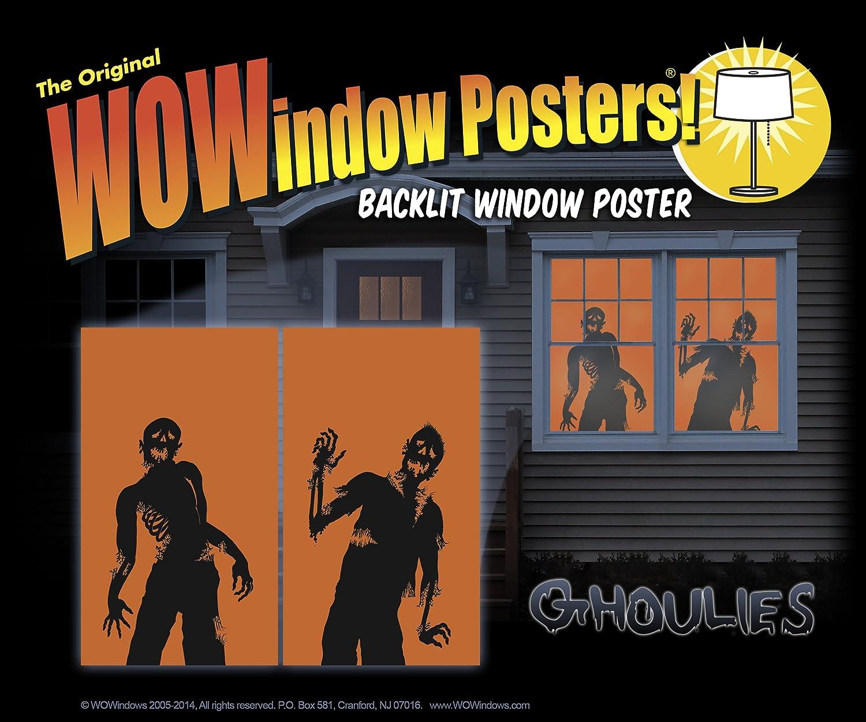 amazon com wowindow posters ghoulies silhouettes halloween window
