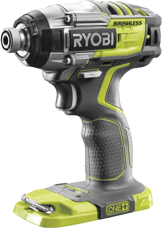 Ryobi R18IDBL-0 Atornillador de Impacto Sin Escobillas, de 18V-Inalámbrico Sin Batería