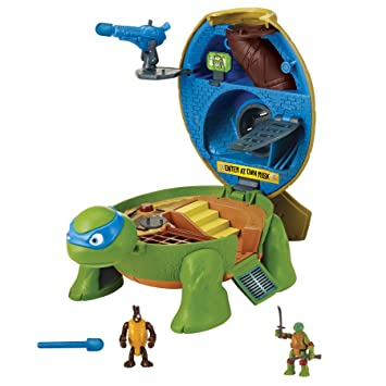 Amazon.com: Teenage Mutant Ninja Micro Pet Turtle to Playset ...