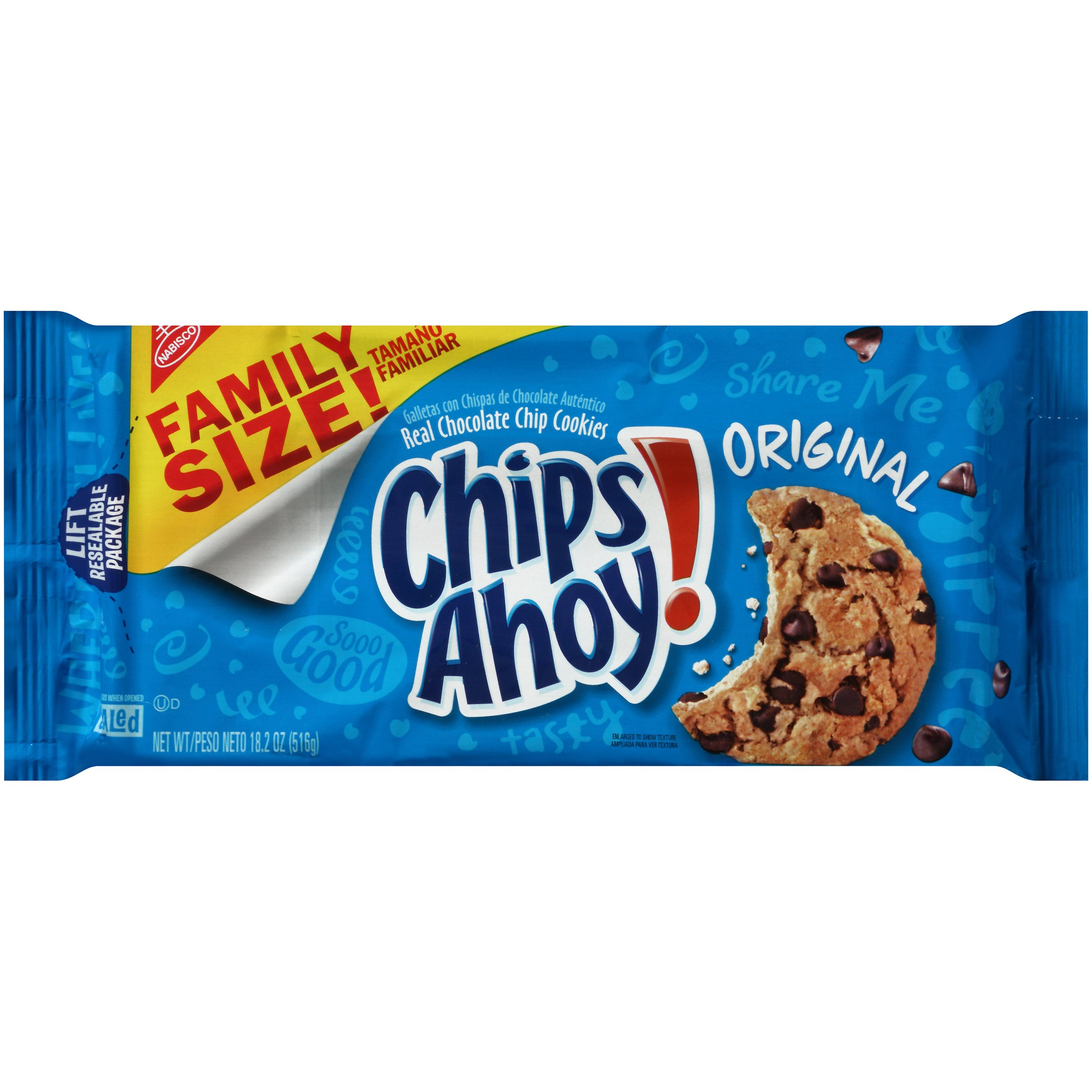 Chips Ahoy! Original Chocolate Chip Cookies - Family Size, 18.2 Ounce (Pack of 6) by Chips Ahoy!