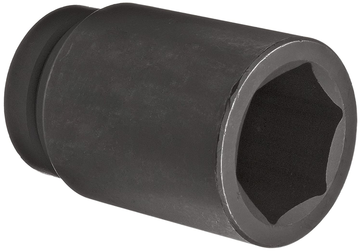 Martin 17658 Forged Alloy Steel 1-13/16 Type III Opening 1 Power Impact Drive Socket, 6 Points Deep, 4-1/8 Overall Length, Industrial Black Finish by Martin  B002M89J6E