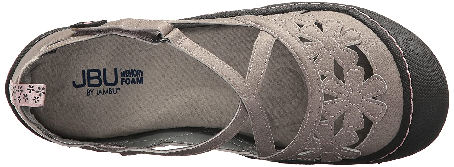 JBU by Jambu Women's Blossom Vegan 9.5 Mary Jane Flat B074KQBTD6 9.5 Vegan B(M) US|Cement ede05d