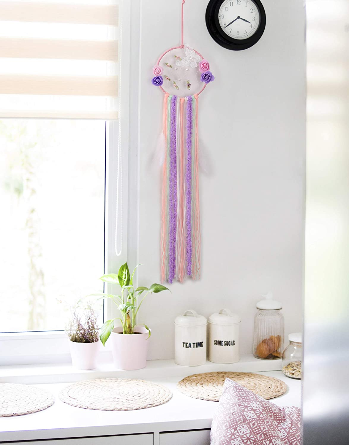 Positive Dreams These Dream Catchers Makes Your Kids Have Creative Mind Crafts for Girls Ages 8-12. Make Your own Dream Catcher and for Room d/écor JMS DIY Dream Catcher Art kit Set