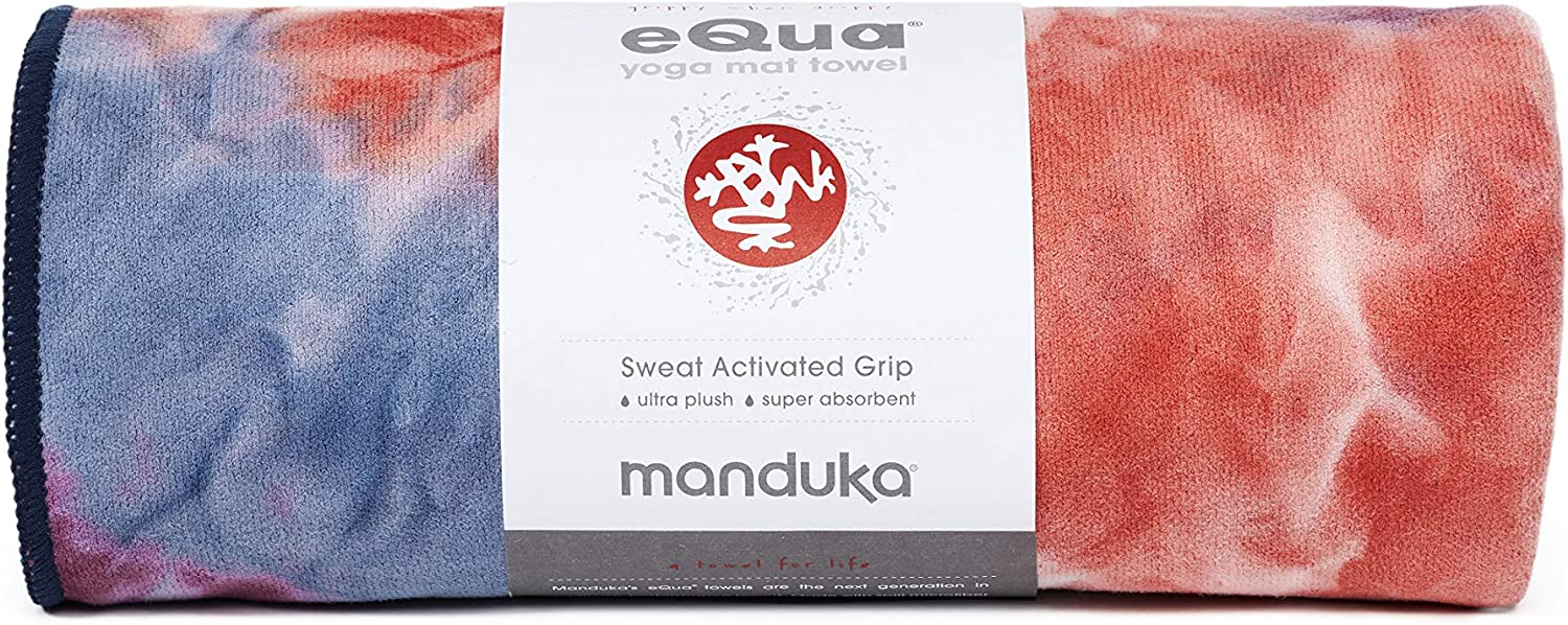Manduka eQua Yoga Mat Towel, Absorbent, Quick Drying, Non-Slip for Yoga, Gym, Pilates, Outdoor Fitness