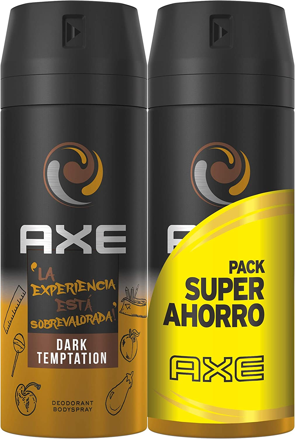 AXE Pack Ahorro Desodorante Dark Temptation 2 x 150 ml: Amazon.es ...