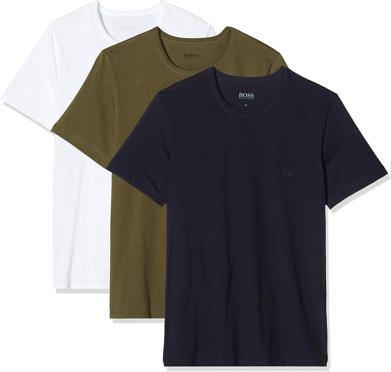 BOSS T-Shirt RN 3p Co Camiseta para Hombre, pack de 3
