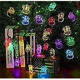 Dax-Hub Alimentate Solari Impermeabili Luci decorazione stringa, 4.8M 20 LED Babbo Natale Alberi di Natale illumina la lampada per decorare la vostra casa, giardino, festa di nozze (5M, 20-Babbo-Natale, Multi-Color)