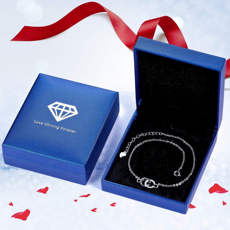 Lydreewam bracelet de cheville en argent sterling 925 pour les femmes initiales alphabet double C d/'/ét/é Barefoot plage bracelets de cheville r/églable 22 4cm