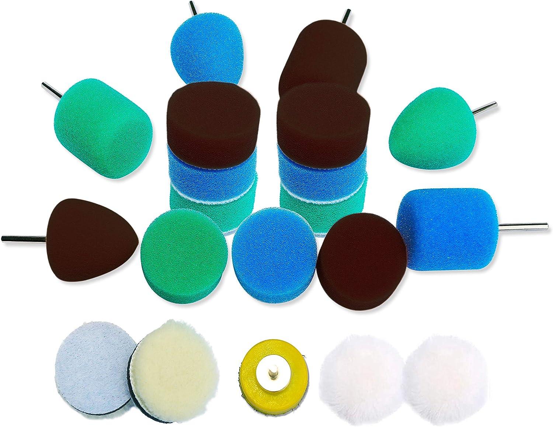 Details about  /4pcs Set Car Polishing Buffer Waxing Buffing Pad Car Wheel Sponge Polisher Kit