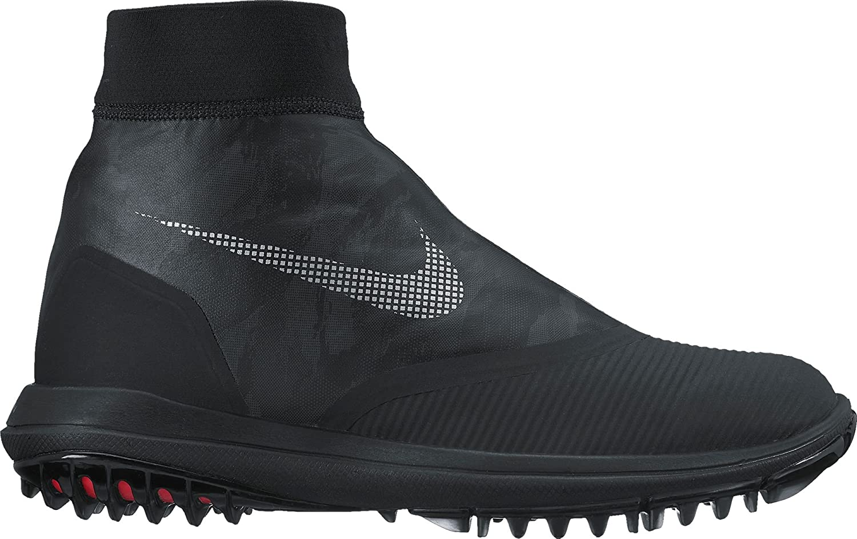 NIKE Lunar VaporStorm Spikeless Golf Shoes 2017 B00E7Z4P82 10.5 D(M) US|Black/Reflect Silver/Solar Red