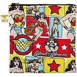 Bumkins DC Comics Reusable Snack Bag Large, Wonder Woman