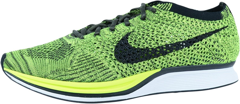 Nike Men's Flyknit Racer Running Shoes Verde Verde Volt Black Sequoia