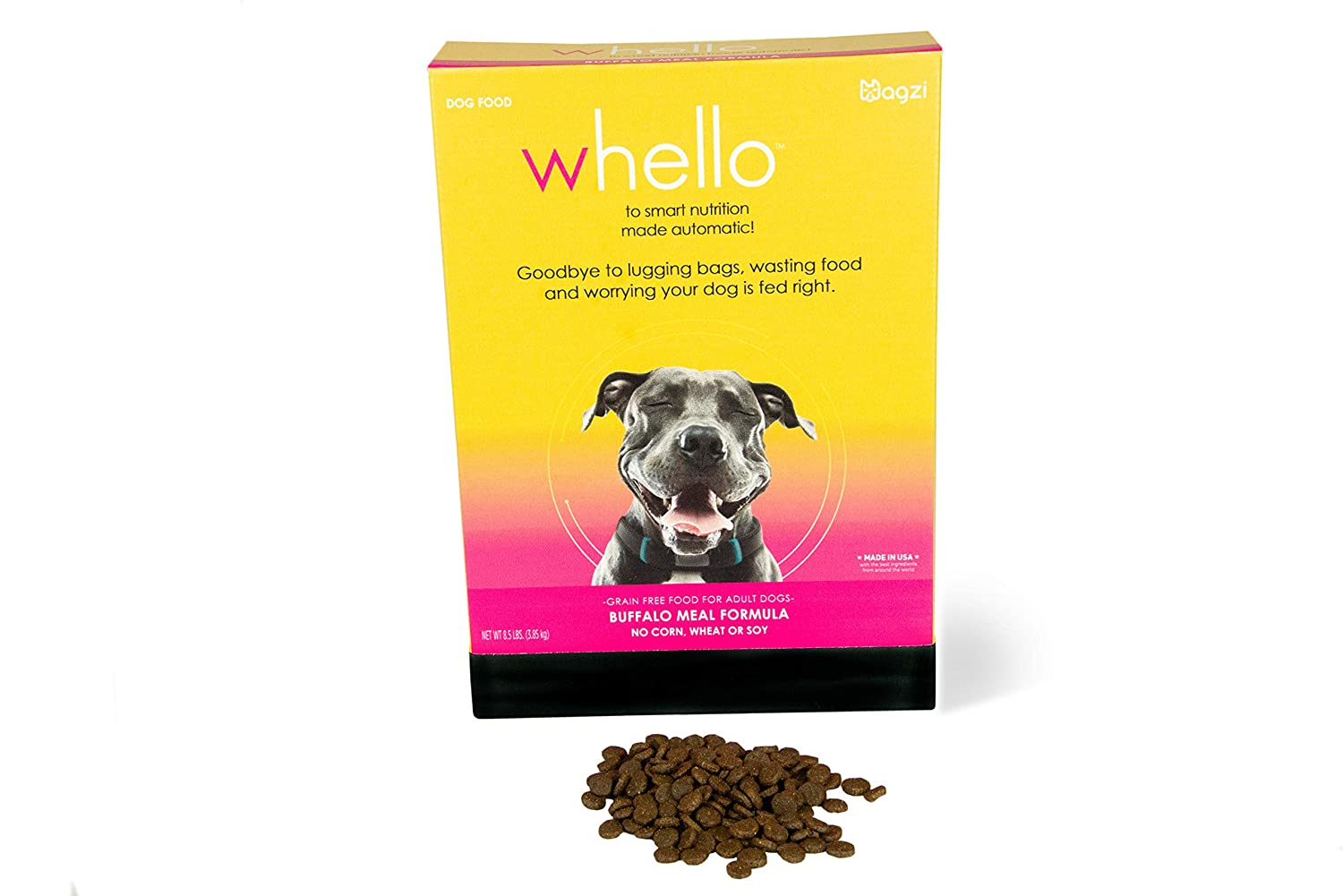 WHELLO Grain Free Dry Dog Food Specially Formulated for Wagz Serve Smart Feeder