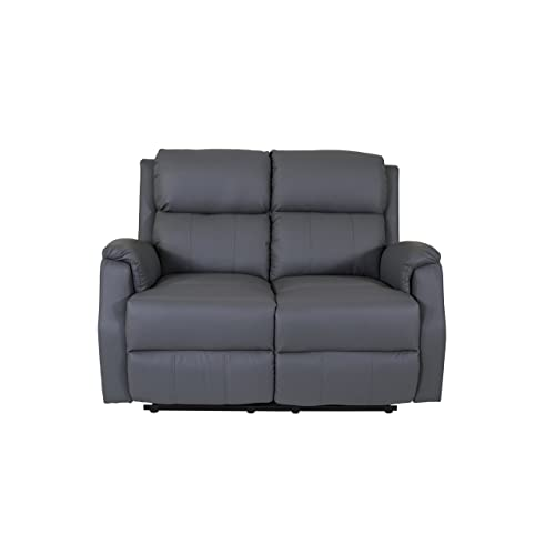 Reclining Hadleigh Sofa Collection 1 2 3 Seater Sofas Recliner Armchair  Bonded Leather Grey Living Room