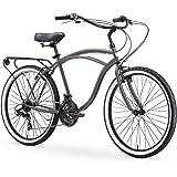 sixthreezero Around the Block Men's Cruiser Bike with Rear Rack (24-Inch and 26-Inch)