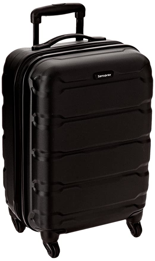 amazon com samsonite omni pc hardside spinner 20 black suitcases