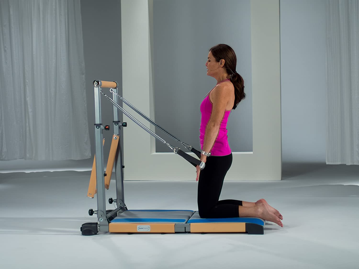 Com Beverly Hills Fitness Supreme Pilates Pro Spp089 With Ballet Barre Toning Tower Yoga Pad And Dvd S Sports Outdoors